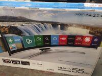 "New Graded 55"" Samsung Smart LED Curved HDTV"