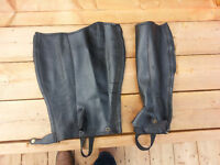 English Half Chaps -  Black/medium