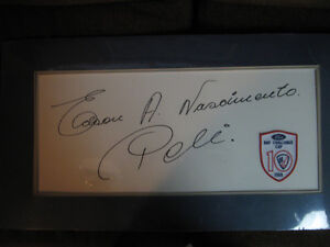 Vintage 'Rare' 'Edson' Full signiture 'Pele' soccer hero REDUCED