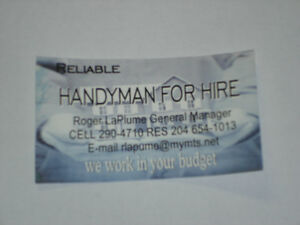 HANDYMAN FOR HIRE $$$$$