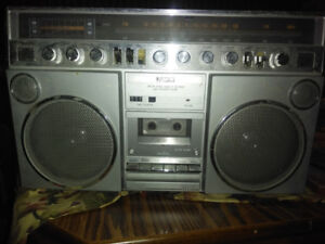 1980s pulsar Ghetto blaster boom box