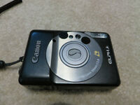 Canon Elph Jr. APS Point and Shoot Film Camera with Case - Black