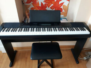 Casio CDP-220 88 Fullsize Digital Piano with Pedal, Bench, stand
