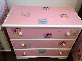 Decoupage princess drawers