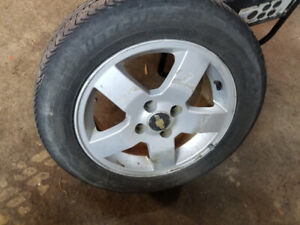 2008 chevy aveo rims and tires all 4