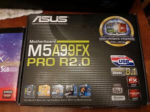 Asus M5a99FX Pro (rev.2) with Zalman Z5 case + 4 fans