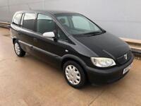 Vauxhall/Opel Zafira 1.6i 2002 long mot! Cheap 7 seater