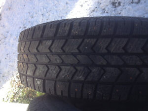 "Studded tires on 16"" rims"