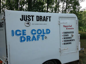 Refrigerated draft beer trailer rental
