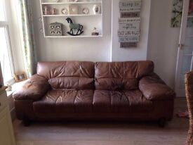 DFS soft leather sofa