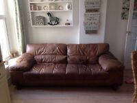 DFS soft leather sofa