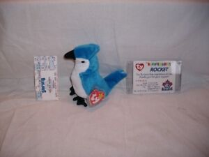 Rare 'Rocket' Beanie Baby from Blue Jay game on Sept. 6, 1998