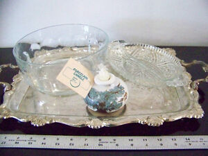 Silver plated tray Plus