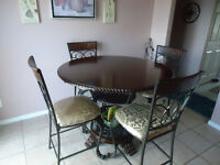kitchen high table set for 4 on sale