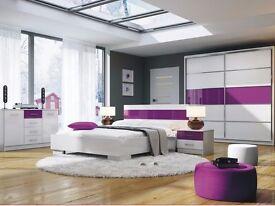 Bedroom Furniture Set DUBAJ - Purple