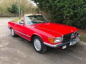 CLASSIC 1986 MERCEDES 300 SL ROADSTER AUTOMATIC CONVERTIBLE - LIGHT DAMAGE