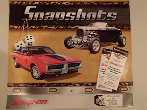 New 2002 SNAPSHOTS 12 Month SNAP-ON Car CALENDAR.