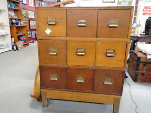 Antique Oak Stacking Filing Cabinet  NEW PRICE!!!