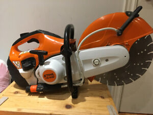 Stihl TS 420  quick cut /concrete saw with blade used once