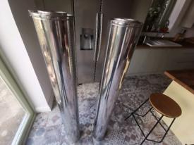 X2 insulated chimney flue.