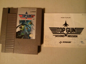Nintendo NES video game Top Gun - The second mission with manual