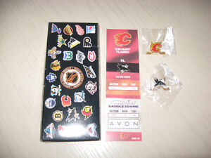 Hockey collector pins - Calgary and San Jose