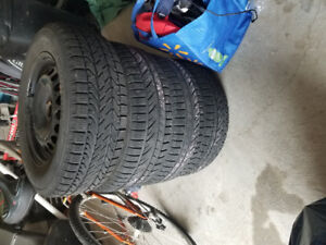 Excellent condition winter tires on rims.