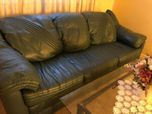 Downsizing- Leather  Couch and Loveseat