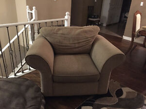Beige/cream couch and matching chair for sale Windsor Region Ontario image 2