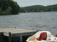 Maison à vendre Ste-agathe accès privé bord de l'eau avec quai