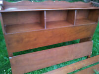 Vintage Double Size Bed Early1900's Headboard Footboard Rails