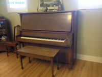 Upright Piano=Price Reduced