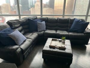 Leather Sectional Reclining Couch