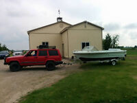 1973 Duo 17 foot inboard outboard 120 HP and trailer