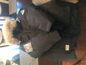 """WOODS """"ARCTIC"""" 3/4 DOWN FILLED PARKA NEW CONDITION TAGS ON"""