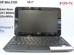 Ordinateur portable mini, Windows 7 Pro, $125 +tx
