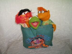 The Muppets Vintage set, Kermit Doll, Scooter Doll Animal Puppet