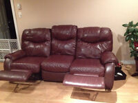 Elran leather couch