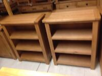 Small oak bookcases reduced to clear