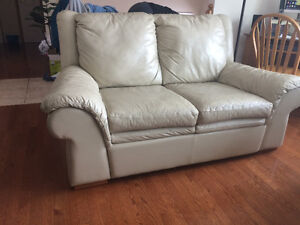 100% genuine leather Sofa and loveseat