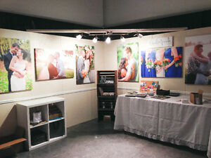 NEW PRICE - Bridal / wedding / trade show booth wall structure