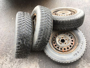 Hancook IPIKE snow tires 195/70/14 and rims for sale