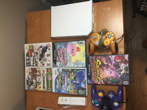 Nintendo Wii + Game Cube Controllers + Games