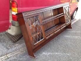 Vintage Oak Dresser Top Spice Drawers Plate Rack