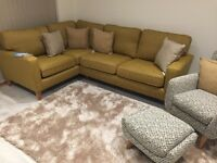 Brand new Harveys opal sofa and lemora chair and stool