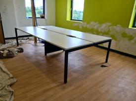 4 desk office workstation
