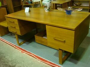 Teak Desk made by Dyrlund  Denmark @ Rocky Mountain Antique Mall