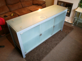 Tinted glass and metal Sideboard/buffet, REDUCED