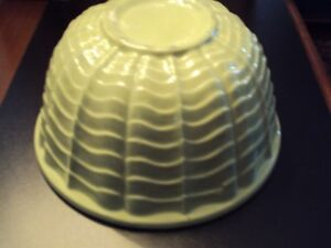 Green Antique Pottery Mixing Bowl