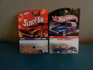 Hot Wheels '55 Chevy Panels Lot of 2 With Real Riders Delivery